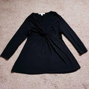 5/$25 Boston Proper  Black Blouse  Size M